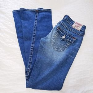 TRUE RELIGION Size 26 Joey Jeans Faded Wash Flared